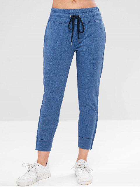 ZAFUL Drawstring Zipper Side Jogger pantalones - Azul Océano  L Mobile