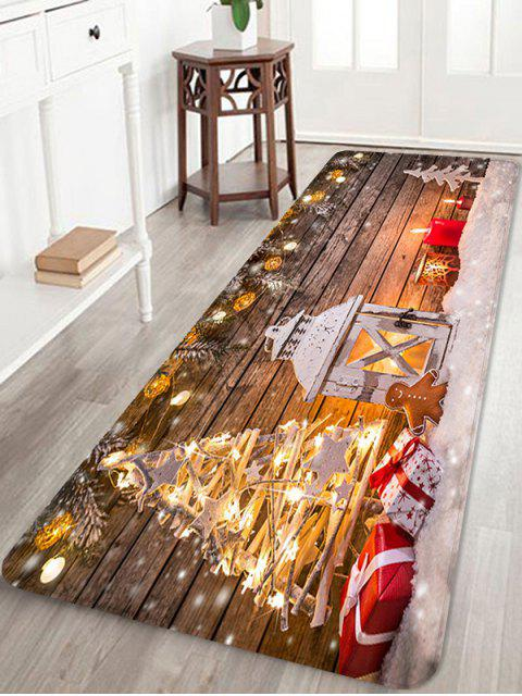 latest Christmas Lantern Gifts Pattern Anti-skid Water Absorption Area Rug - MULTI W24 X L71 INCH Mobile