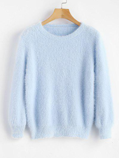 Cosy Fluffy Sweater - Day Sky Blue
