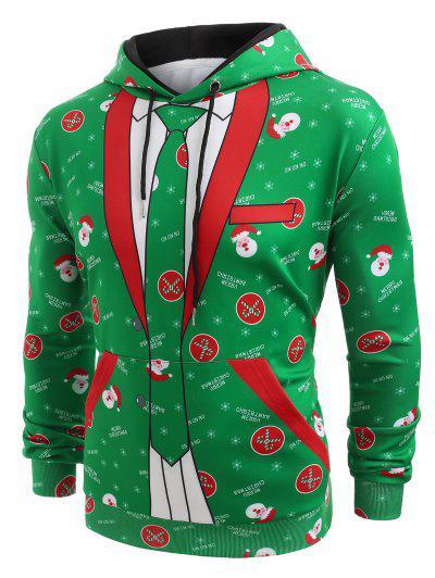 Christmas Blazer Pocket Hoodie - Clover Green M