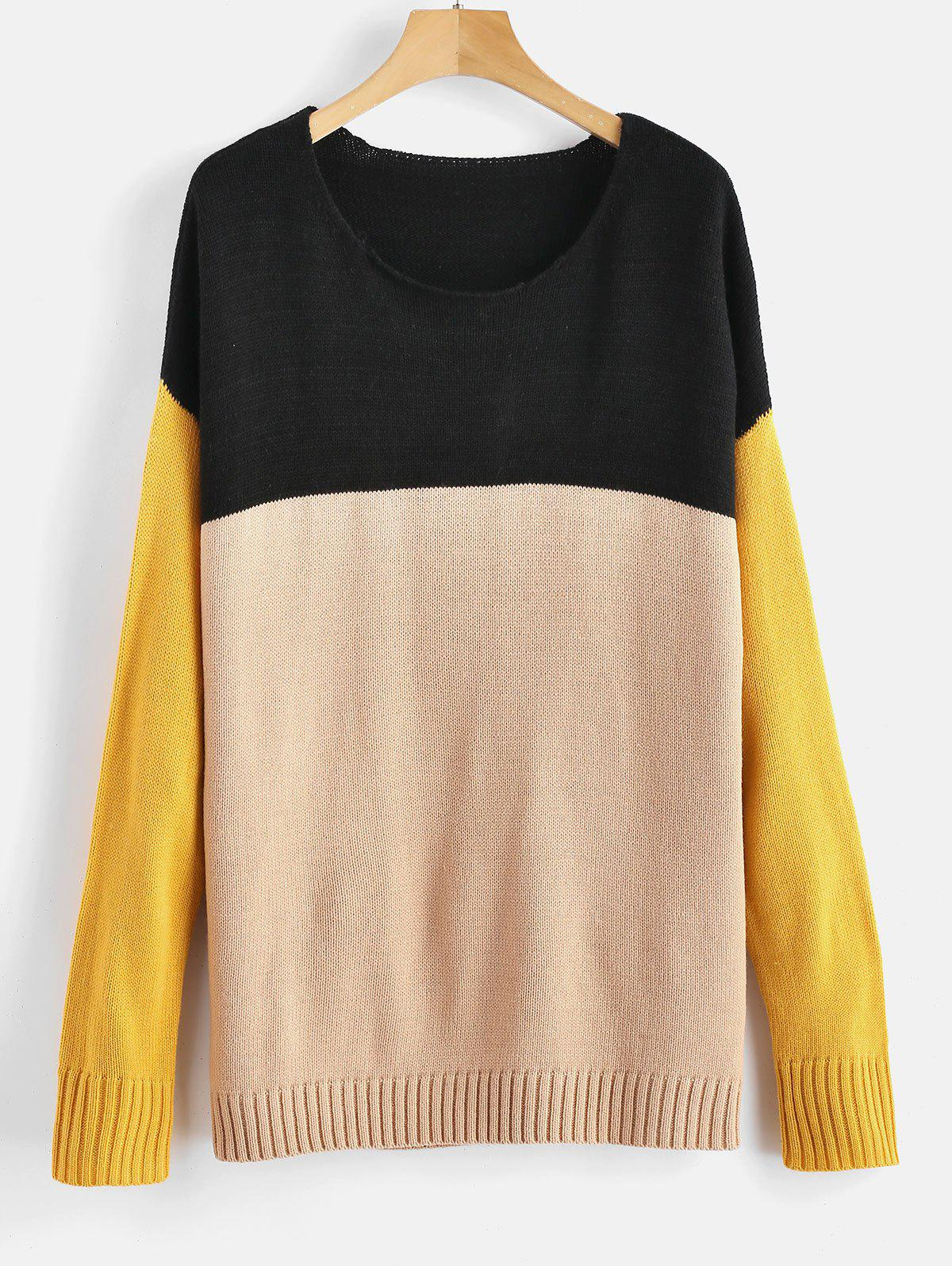 ZAFUL Color Block Drop Shoulder Sweater