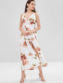Fl Criss Cross Maxi Dress