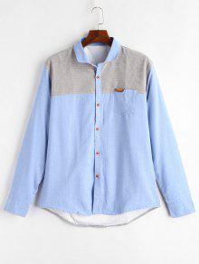 قميص بنمط كتل الالوان - السماء الزرقاء 2xl