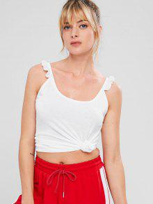 ZAFUL Sports Filled Cami Tank Top - أبيض L