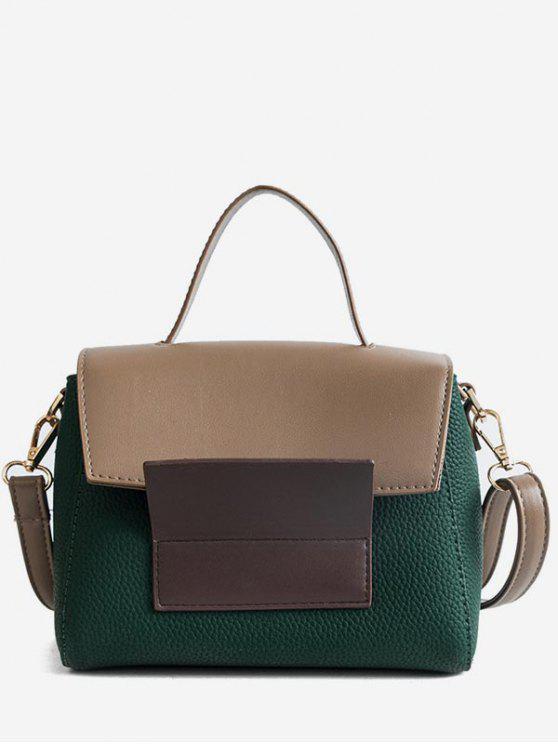 womens Color Block Tote Bag - SEA GREEN