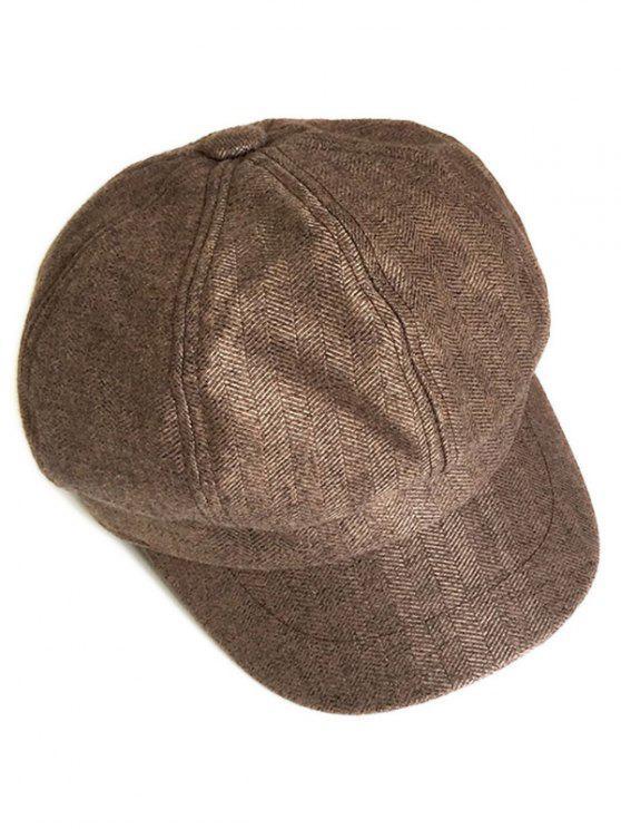 lady Solid Color Octagonal Cap - WOOD
