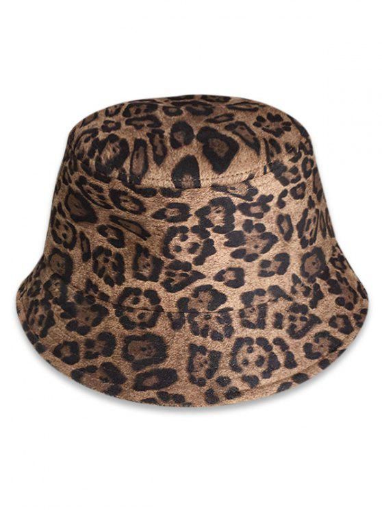 ff53ce3c57355 18% OFF  2019 Leopard Animal Print Bucket Hat In CAMEL BROWN