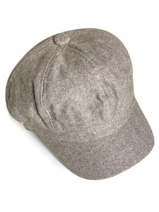 ladies Solid Color Octagonal Cap - GRAY CLOUD