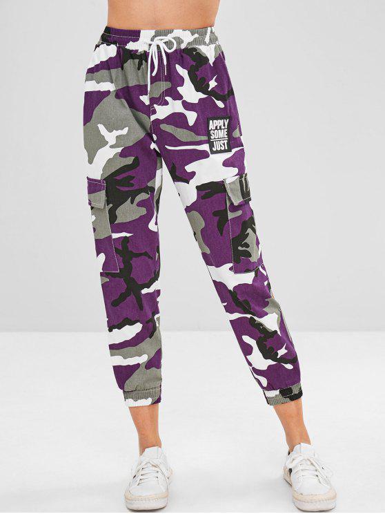 Pantaloni Da Jogging Stampati Di Camo Con Tasche - Multi Colori Taglia unica