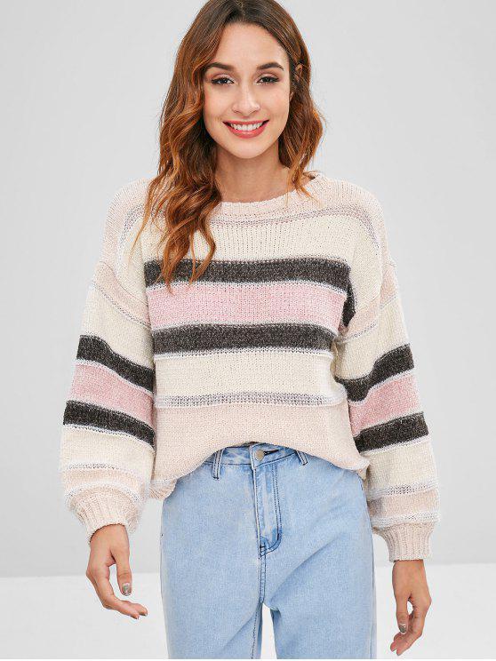 Rayas de hilo brillante jersey suéter - Multi Única Talla
