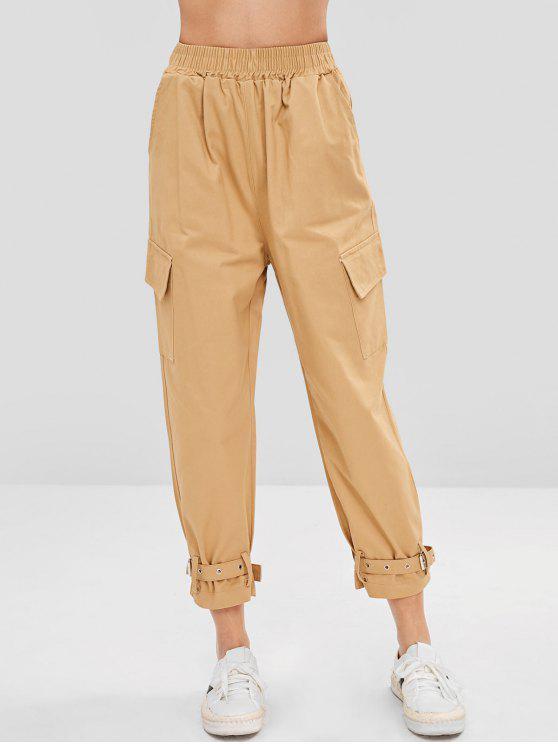 outfit Side Pockets Pants - LIGHT KHAKI XL