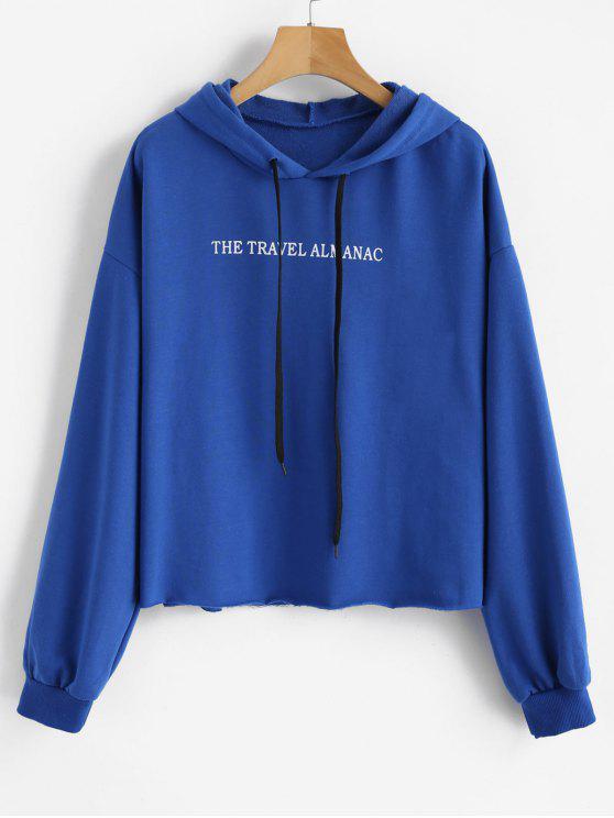 Sudadera con capucha con cordón ajustable - Azul Océano  M
