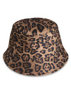 Leopard Print Bucket Hat - Camel Brown