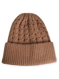 Solid Color Flanging Thick Beanie - Dark Goldenrod