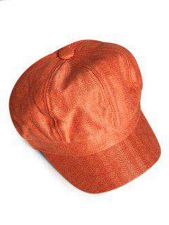 Solid Color Octagonal Cap - Pumpkin Orange