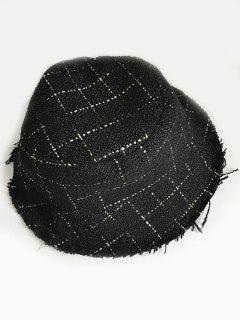 Outdoor Plaid Fisherman Hat - Black