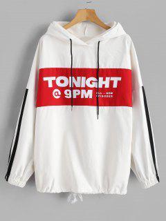 Hooded Oversized Tunic Pullover Jacket - Multi