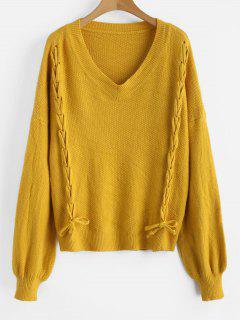 Schnür-Schulterpullover - Orange Gold