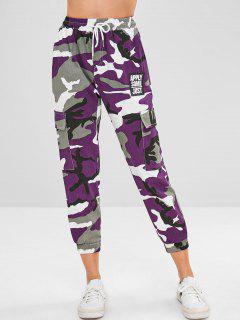 Pantalon Cargo De Jogging Camouflage Imprimé Avec Poches - Multi