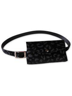 Unique Leopard Patter Fanny Pack Waist Belt Bag - Black