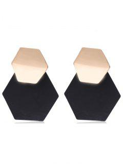 Stylish Irregular Geometry Alloy Earrings - Black