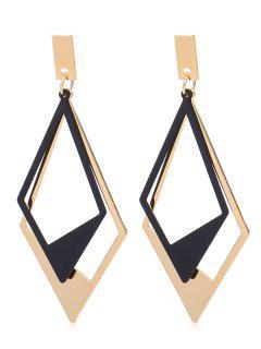 Alloy Rhombus Drop Earrings - Gold