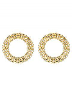 Alloy Rounded Punk Earrings - Gold