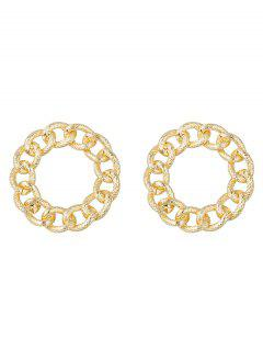 Punk Infinity Alloy Round Earrings - Gold