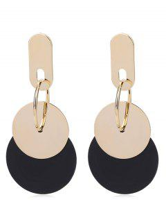 Stylish Dangling Round Alloy Drop Earrings - Gold