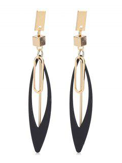 Geometry Alloy Drop Earrings - Gold