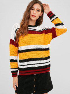 Suéter Rayado Multicolor A Rayas - Multicolor