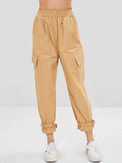Side Pockets Pants - Light Khaki Xl