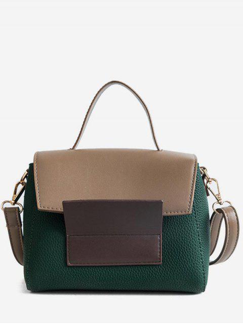 womens Color Block Tote Bag - SEA GREEN  Mobile