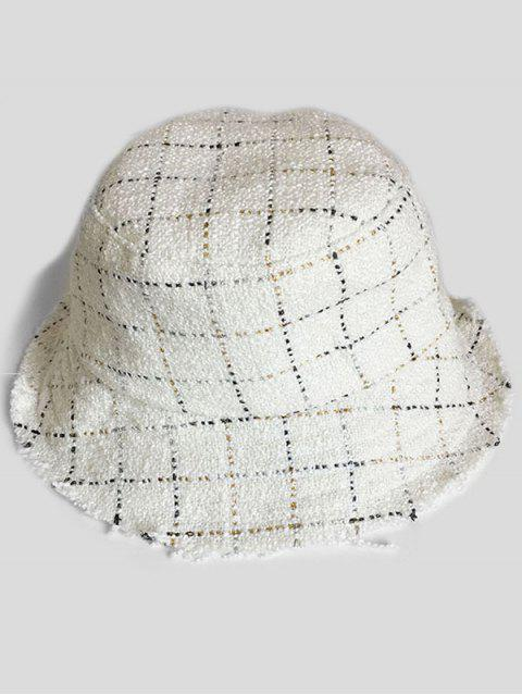shop Outdoor Plaid Fisherman Hat - WHITE  Mobile
