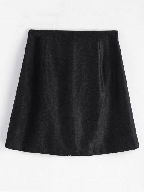 womens Zip Up A Line Skirt - BLACK M Mobile