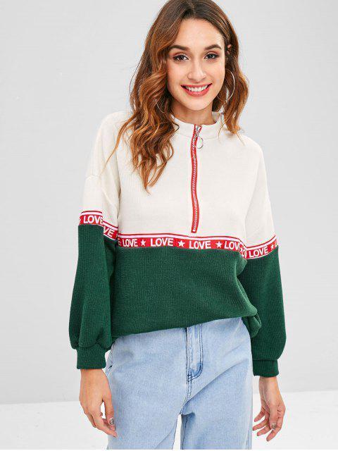 fancy Zipped Drop Shoulder Sweatshirt - MULTI ONE SIZE Mobile