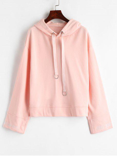O-Ring Brief bestickt Hoodie - Pink M Mobile