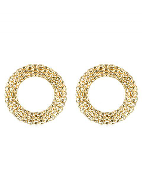shop Alloy Rounded Punk Earrings - GOLD  Mobile