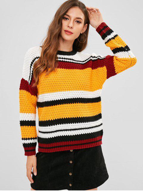 Suéter Rayado Multicolor A Rayas - Multicolor Única Talla Mobile