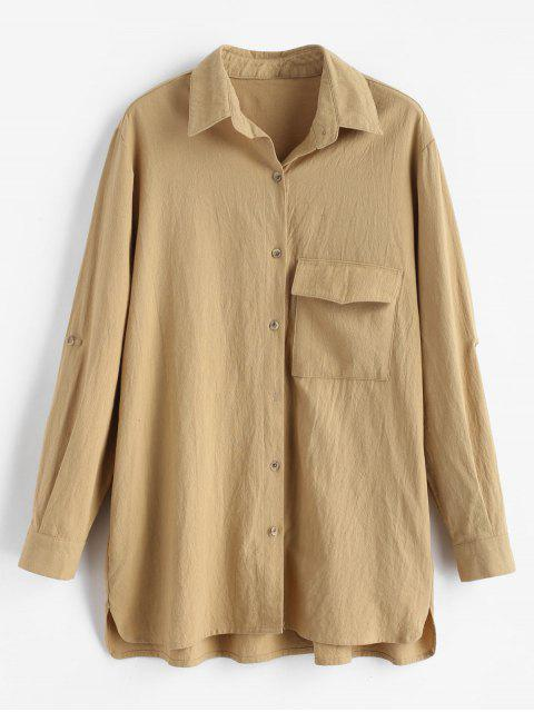 Camisa de bolsillo con solapa alta baja - Tan M Mobile