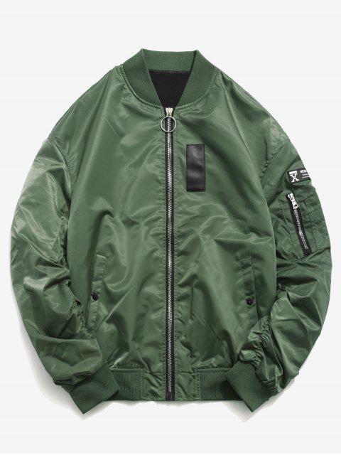 Chaqueta de manga corta con capucha estilo patchwork - Bosque Verde Mediana 2XL Mobile