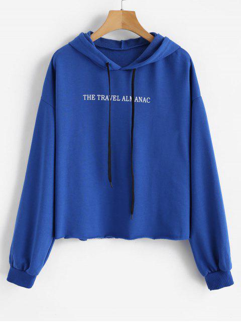 Sudadera con capucha con cordón ajustable - Azul Océano  M Mobile