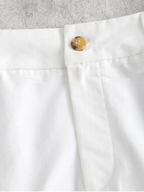 women's ZAFUL Solid Color Grommet Mini Skirt - WHITE XL Mobile