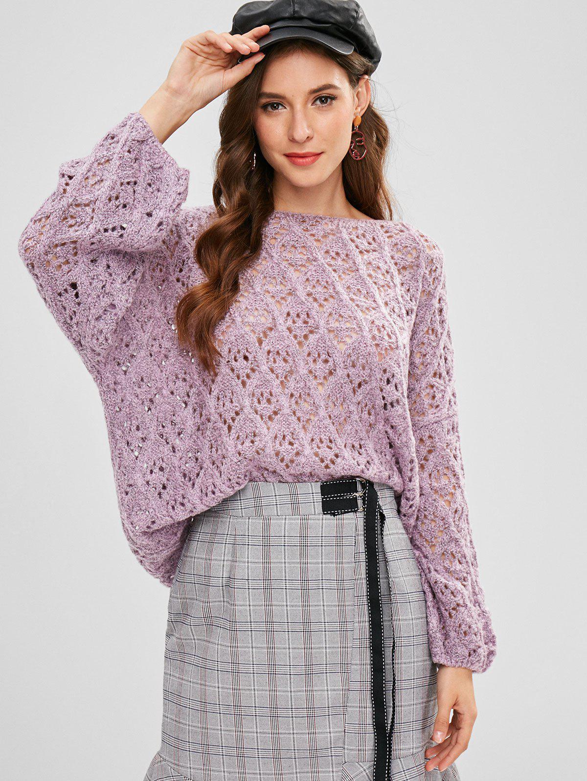 ZAFUL Loose Knit Cut Out Sweater