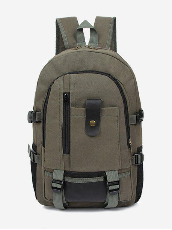 outfit Canvas Color Block Travel Backpack - SEA GREEN