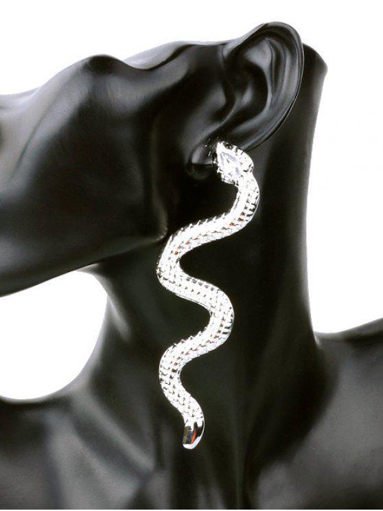 Pendientes únicos de aleación de punk serpiente - Plata