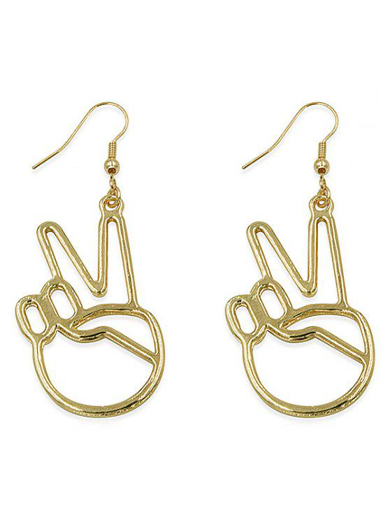 affordable Hollow Palm Alloy Drop Earrings - GOLD