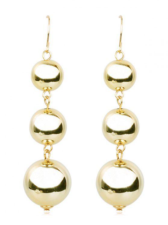 lady Balls Dangle Metal Drop Earrings - GOLD
