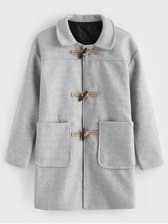 outfit Toggles Classic Duffle Coat - LIGHT GRAY L