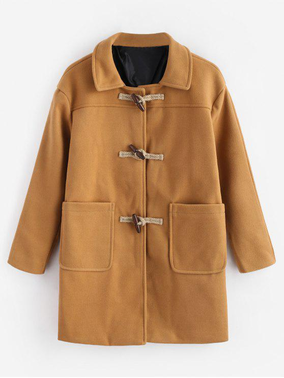 outfits Toggles Classic Duffle Coat - TIGER ORANGE L